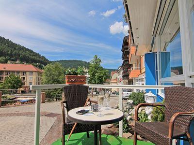 Terrasse v Hotel  Blick Stadt AP bea